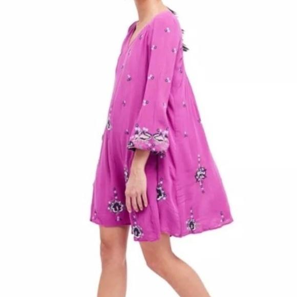 30a684786bb9 Free People Dresses | Oxford Embroidered Mini Dress Lilac Sm | Poshmark
